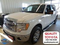 New Price! 2014 Ford F-150 XLT White CARFAX One-Owner.