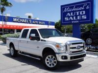 Options:  2014 Ford F-250Sd Lariat|White|4Wd. The