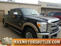 Recent Arrival! 2014 Ford F-350SD Lariat Black 4WD.