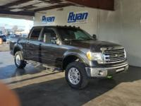 New Price! Clean CARFAX. Black 2014 Ford F-150 Lariat