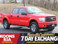 2014 Ford F-150 STX Race Red 5' Chrome Running Boards,