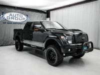 2014 FORD F150 FX4 BLACK OPS 4X4 LIFTED TRUCK: TUXEDO