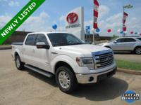 CARFAX One-Owner. Oxford White 2014 Ford F-150 Lariat