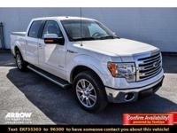 Clean CARFAX. White 2014 Ford F-150 Lariat RWD 6-Speed
