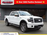 Clean CARFAX. Oxford White 2014 Ford F-150 Lariat FX4