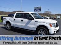 Certified. Oxford White 2014 Ford F-150 STX 4WD 4WD