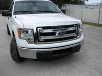Ford F150 XL pick up truck. White RWD 2DR V8 (Powerful)