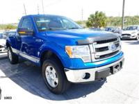 Recent Arrival! This 2014 Ford F-150 XLT in Blue Flame