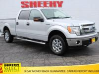 CARFAX One-Owner. Silver 2014 Ford F-150 XLT 4WD