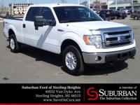 Clean CARFAX. Oxford White 2014 Ford F-150 XLT 4WD