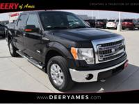 Black 2014 Ford F-150 XLT 4WD 6-Speed Automatic