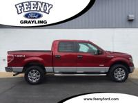 Red 2014 Ford F-150 XLT 4WD 6-Speed Automatic