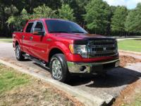 CARFAX One-Owner. Clean CARFAX. Red 2014 Ford F-150 XLT