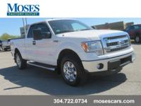 New Price! Clean CARFAX. 2014 White Ford F-150 Super