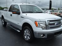 One-Owner. Clean CARFAX. White 2014 Ford F-150 XLT RWD