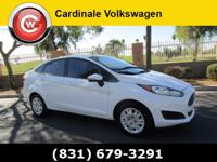 Clean CARFAX. Oxford White 2014 Ford Fiesta SE FWD