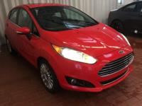 Red 2014 Ford Fiesta Titanium FWD 6-Speed Automatic