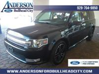 Certified. Black 2014 Ford Flex SEL FWD 6-Speed