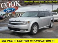 Ingot Silver Metallic 2014 Ford Flex SEL FWD 6-Speed