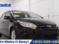 CARFAX One-Owner. Black 2014 Ford Focus SE FWD 6-Speed