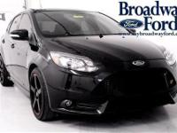Come see this 2014 Ford Focus ST. It has a Manual