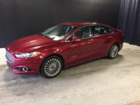 2014 Ford Fusion Hybrid Titanium in Ruby Red Tinted