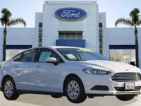 Options:  2014 Ford Fusion S|White/|V4 2.5 L