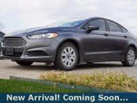2014 Ford Fusion S in Sterling Gray Metallic, This