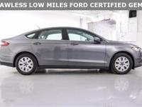**WOW 35+MPG! **FLAWLESS FORD FACTORY CERTIFIED FUSION!