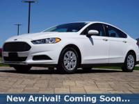 2014 Ford Fusion S in Oxford White, This Fusion comes