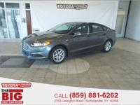 Sterling Gray Metallic 2014 Ford Fusion SE FWD 6-Speed
