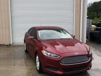 CARFAX One-Owner. Red 2014 Ford Fusion SE FWD 6-Speed