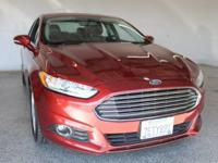 2014 Ford Fusion SE 4D Sedan Ruby Red Metallic Tinted