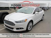 6-Speed Automatic Pearl White 2014 Ford Fusion SE FWD