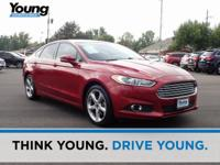 2014 Ford Fusion SE Red FWD 6-Speed Automatic EcoBoost
