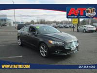 CARFAX One-Owner. Certified. Black 2014 Ford Fusion SE