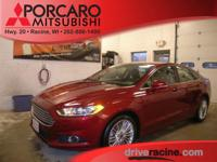 Options:  2014 Ford Fusion Se|Red|Charcoal Black