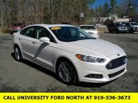CARFAX One-Owner. 2014 Ford Fusion SE White Platinum