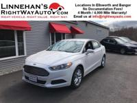 This 2014 Ford Fusion SE is a one owner car with mid