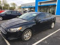 CARFAX One-Owner. Black 2014 Ford Fusion SE FWD 6-Speed