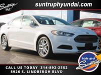 New Price! 6-Speed Automatic. White 2014 Ford Fusion SE
