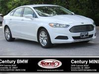 Clean Carfax! 2014 Ford Fusion with White exterior and
