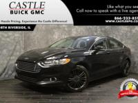 CARFAX One-Owner. 2014 Ford Fusion SE Black FWD 6-Speed