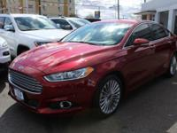 New Price! Ford Fusion Red 6-Speed Automatic, AWD.