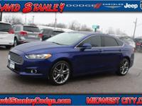 CARFAX One-Owner. Blue 2014 Ford Fusion Titanium FWD