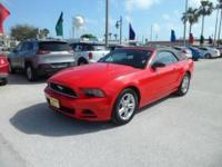 2014 FORD MUSTANG V6 - EXQUISITE RACE RED EXT.-BLACK