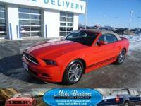 *2014 FORD MUSTANG CONVERTIBLE PREMIUM, RACE RED WITH
