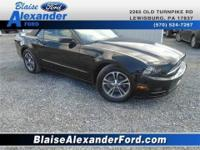 Mustang V6 Premium 2D Convertible Black ABS brakes