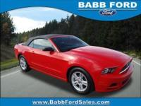 Sharp RED Mustang with an automatic transmission and