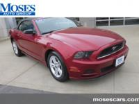 CARFAX One-Owner. Race Red 2014 Ford Mustang V6 RWD